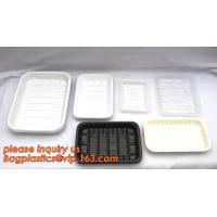 China Corn Starch Biodegradable Plastic Meal Prep Tray, Eco-friendly bio disposable corn starch lunch trays, corn starch biode on sale