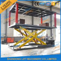Wholesale 2T 3m Hydraulic Scissor Type 2 Car Parking Lift form Basement to Ground Level from china suppliers