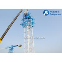 Quality Overhead Flat Top Tower Crane Lifting Equipment 30m Freestanding Height for sale