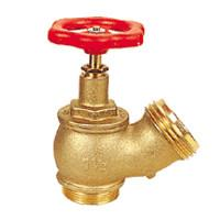 Wholesale Pipe Fitting Brass Oblique Fire Hydrant Valve With Red Round Handle from china suppliers