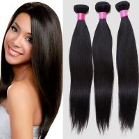 Wholesale Lightweight Virgin Brazilian Straight Hair , Real Brazilian Hair Extensions Double Weft from china suppliers