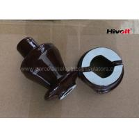 Wholesale 1KV 250A LV Ceramic Insulator Bushing , Overhead Line Insulators Chocolate Brown from china suppliers