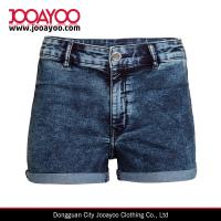 Wholesale Super Stretch twill High Waist and Back Pockets Denim Shorts from china suppliers