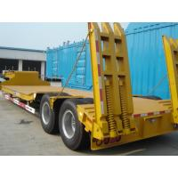 Wholesale 2 Axle Lowboy Trailer Gooseneck Low Bed Trailer With Hydraulic Ladder from china suppliers