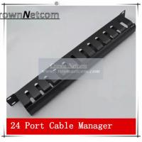 Wholesale AMP Type Rack Cable Manager 19Inch Standard 24Port Patch Panel Management Data Voice Wire from china suppliers