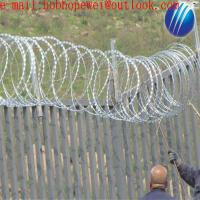 Buy cheap BTO-22 CBT-65 type stainless concertina Razor Barbed Fence Wire/stainless steel flexible razor wire mesh from wholesalers