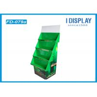 Wholesale Green Cardboard Quarter Pallet Display , Battery Retail Display Racks from china suppliers