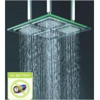 Wholesale Contemporary LED Glass Square Shower Head, FD-2003-02 from china suppliers