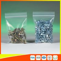 Wholesale Clear Packing Ziplock Bags For Hardware Packaging , Plastic Bag With Zipper from china suppliers