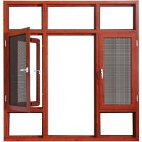 Wholesale Coloured Hinged Aluminium Double Casement Windows Bronze With Reflective Glass from china suppliers