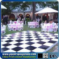 Wholesale Polished wooden white and black dance floor for wedding decoration from china suppliers