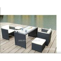Wholesale All Weather Wicker Patio Furniture Set Table And Chairs For Business / Resting from china suppliers