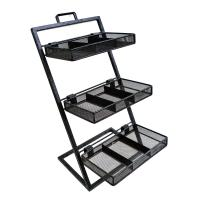 Wholesale Supermarket 3-tier wire metal wire display stands shelving / rack systems for showing shoe from china suppliers