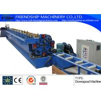 Quality Aluminum / Cooper Round Down Pipe Roll Forming Machine , Thickness 0.4-0.8mm for sale