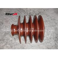 Wholesale Distribution Lines 33kv Pin Insulator With Zinc Thread Brown BS Standard from china suppliers