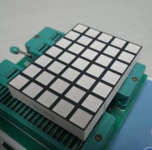 Wholesale White Square Dot Matrix Led Display , 5x7 Dot Matrix LED Running Display from china suppliers