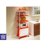 Wholesale Microwave Oven Kitchen Home Storage Racks With Drawer High Quality Tier Shelf from china suppliers