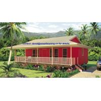 Wholesale Moistureproof Home Beach Bungalows , Fireproof Wooden House Bungalow from china suppliers