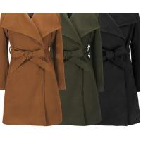 Wholesale Woolen Clothes and Woolen Coat Slim Windbreaker for Ladies in Winter from china suppliers