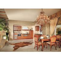 Wholesale Solid Wood Wall Mounted Kitchen Cabinets For Living Room , Cherry Wood Kitchen Cupboards from china suppliers
