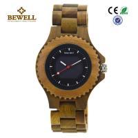 Wholesale All Natural Green Sandalwood Solar Men Wooden Watches , Handcrafted Wooden Men Watches from china suppliers
