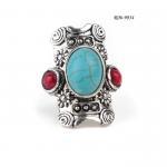 China Rhinestone R06-9034 resin rings Rhinestone Ring Set for sale