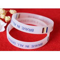 Wholesale Half Transparent Rubber Wrist Bracelets 180mm Perimeter Embossed Technique from china suppliers