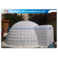 Wholesale 6m Diameter White Igloo Shelter Inflatable Event Tent for Outdoor Activities from china suppliers