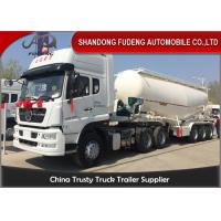 Wholesale 3 Axle 35cbm - 55cbm Powder Bulk Cement Semi Trailer With 12 Wheeler from china suppliers