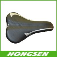 Wholesale S3 black bike bicycle cycling leather saddle, bike seat bike parts from china suppliers