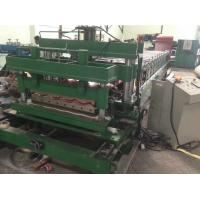 Wholesale Auto Corrugated Glazed Tile Roll Forming Machine 45# Forged Steel Roller 18m/min from china suppliers