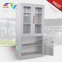 Wholesale metal storage cupboard FYD-W012:H1850XW900XD400mm, KD,glass and steel swing door from china suppliers