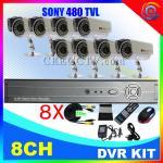 Wholesale 8 CH CCTV DVR Kit 8 IR Cameras H.264 CCTV System CEE-DVR-8208V from china suppliers