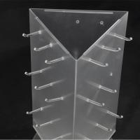 Quality Rotating Frosted Acrylic Sunglasses Display Stand Free Standing Eyewear Display For 9pcs Glasses for sale