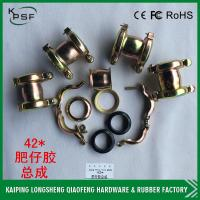 Quality OEM 42mm Stainless Steel Rubber Hose Clamp Pipe Assy For Excavator for sale