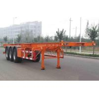 Wholesale Flat-bed Semi Trailer Truck 3 Axles 50Tons 13m for Container Loading from china suppliers