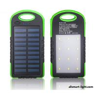 Buy cheap Solar Power Bank ASF-004 Dual USB Powerbank 8000mAh 12LEDs climping clasp External Battery Portable for Mobile phone from wholesalers