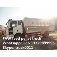 Buy cheap hot sale FAW  LHD 180hp 20m3  poultry feed pellet truck, factory direct sale FAW  8tons-12tons bulk feed truck from wholesalers