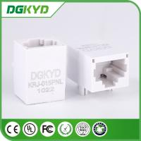 Wholesale Unshield White Plastic housing RJ45 single port Jack with 10/100BASE transformer, Custom from china suppliers