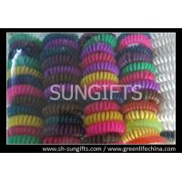 Wholesale Colorful coiled key chain, plastic key coil, stretchable wrist coils from china suppliers
