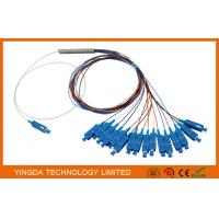 Wholesale 0.9mm Steel Tube Fiber Optic PLC Splitter 1X16 G657A1 1.5m 0.9mm With SC UPC Connector from china suppliers