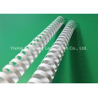 Quality White 28 mm Plastic Binding Combs 21 Rings 50Pcs / Box For Easy Reading for sale