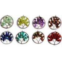 Wholesale Personalized Gemstone Beaded Jewelry , Cool Tree Of Life Gemstone Pendant from china suppliers