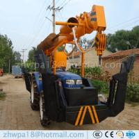 Wholesale Best price Post Hole Digger and Pole Crane Tractor Mounted Crane from china suppliers