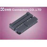 Wholesale Female Wire to Board 2mm IDC Socket Connector With Strain Relief , Straight Orientation from china suppliers