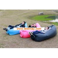 Wholesale Portable Nylon Fabric outdoor inflatable Beach Lounger, Convenient Compression from china suppliers