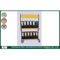 Wholesale Foldable steel rolling tire storage rack for warehouse stacking rack from china suppliers