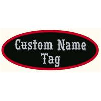 "Wholesale Custom Embroidered 4"" x 1.75"" Oval Name Patch Motorcycle Biker Tag Personalized Badges from china suppliers"