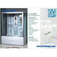Wholesale Water Massage Complete Square Steam Shower Room Cube with Sensitive screen panel from china suppliers