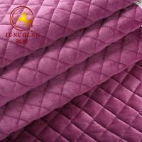 Wholesale 2018 New arrival high quality quilted velvet fabric for sofa and sofa cover from china suppliers